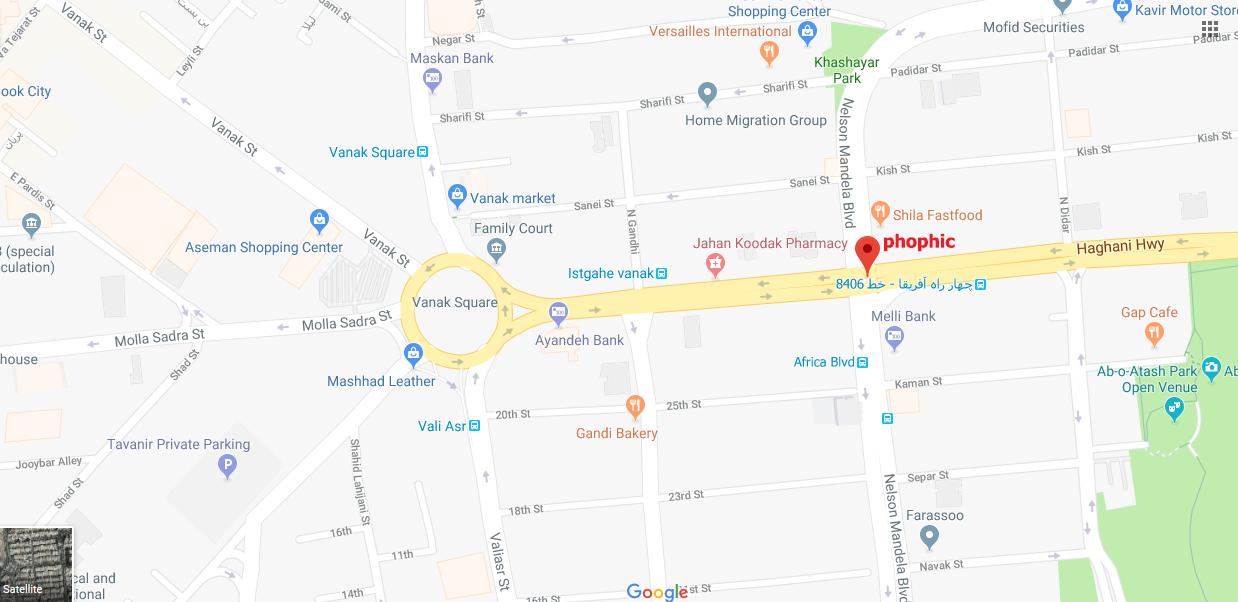 نقشه دفتر تهران استودیو